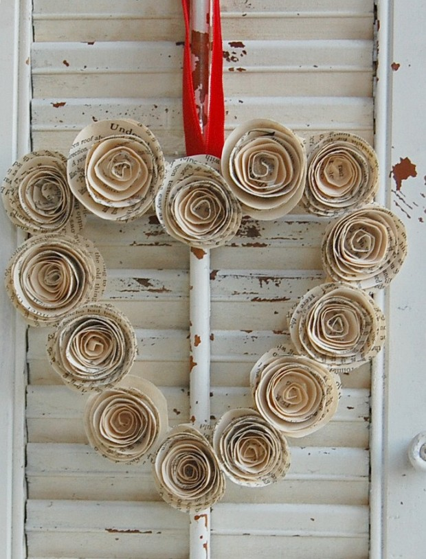 25 Outstandingly Cute Handmade Valentine's Wreath Designs (7)