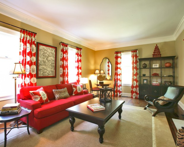 Decorating in red 23 great home decor ideas style for Great home interiors