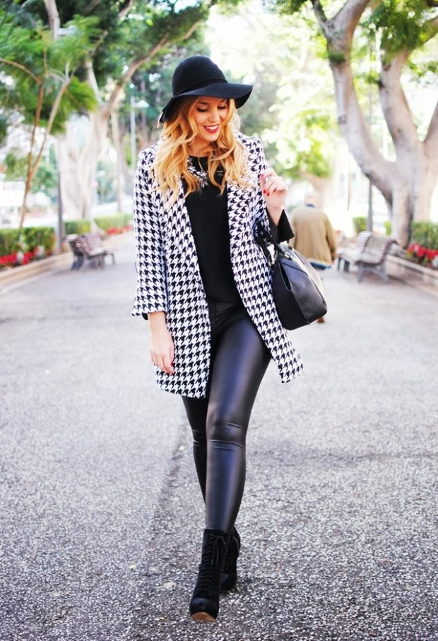 Houndstooth Print 17 Stylish Outfit Ideas (12)