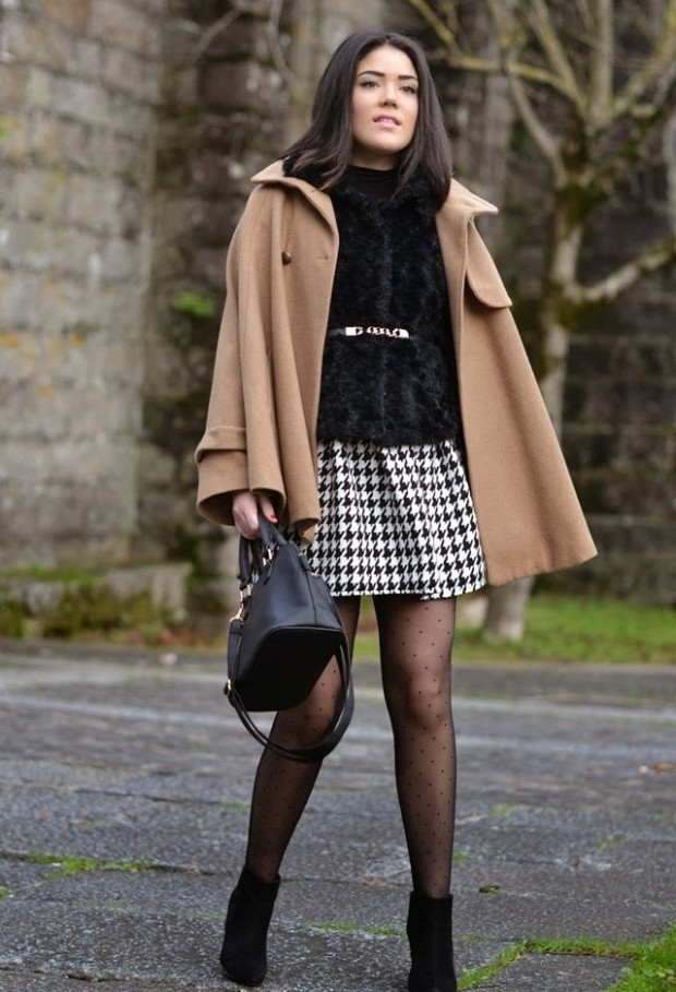 Houndstooth Print 17 Stylish Outfit Ideas (14)