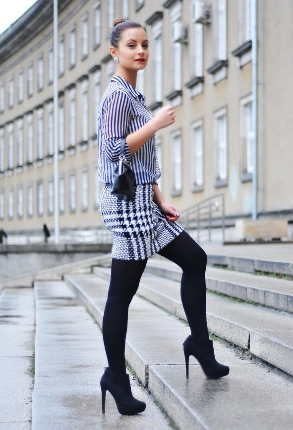 Houndstooth Print 17 Stylish Outfit Ideas (16)