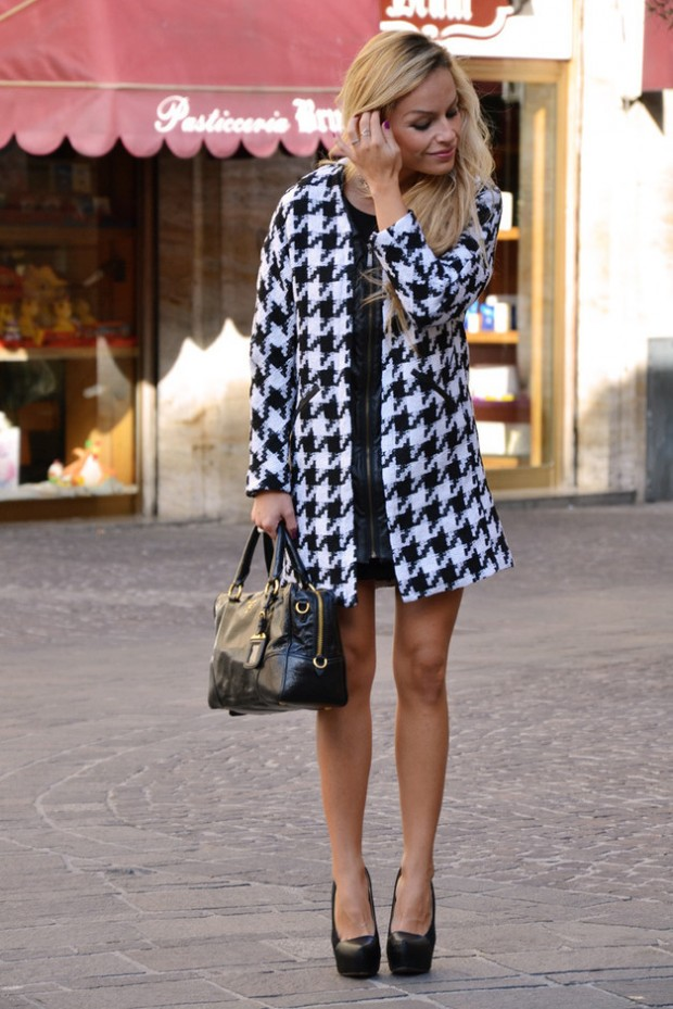 Houndstooth Print 17 Stylish Outfit Ideas (17)
