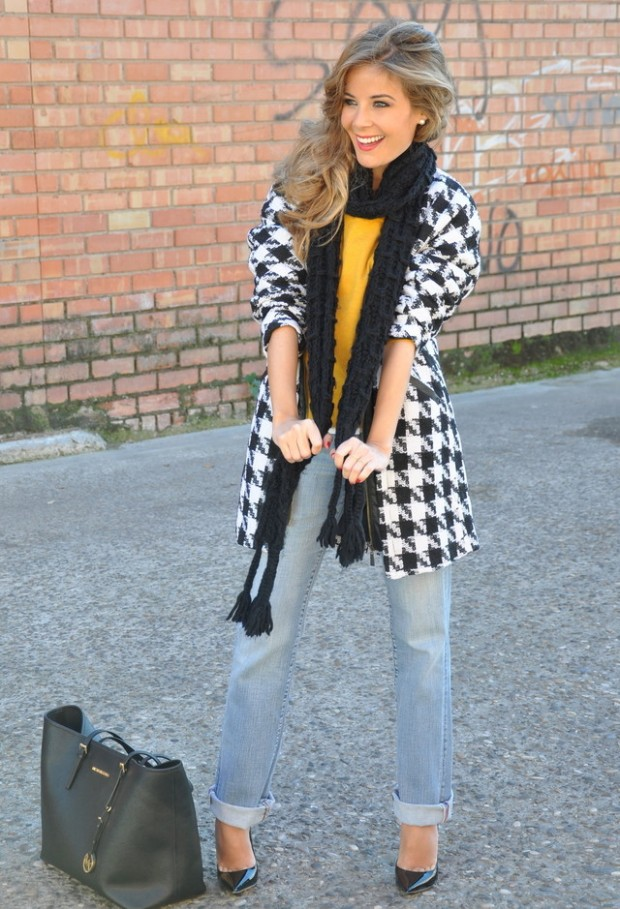 Houndstooth Print 17 Stylish Outfit Ideas (3)