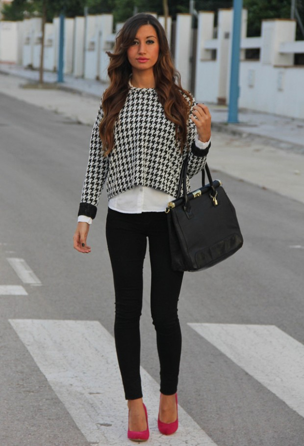 Houndstooth Print 17 Stylish Outfit Ideas (5)