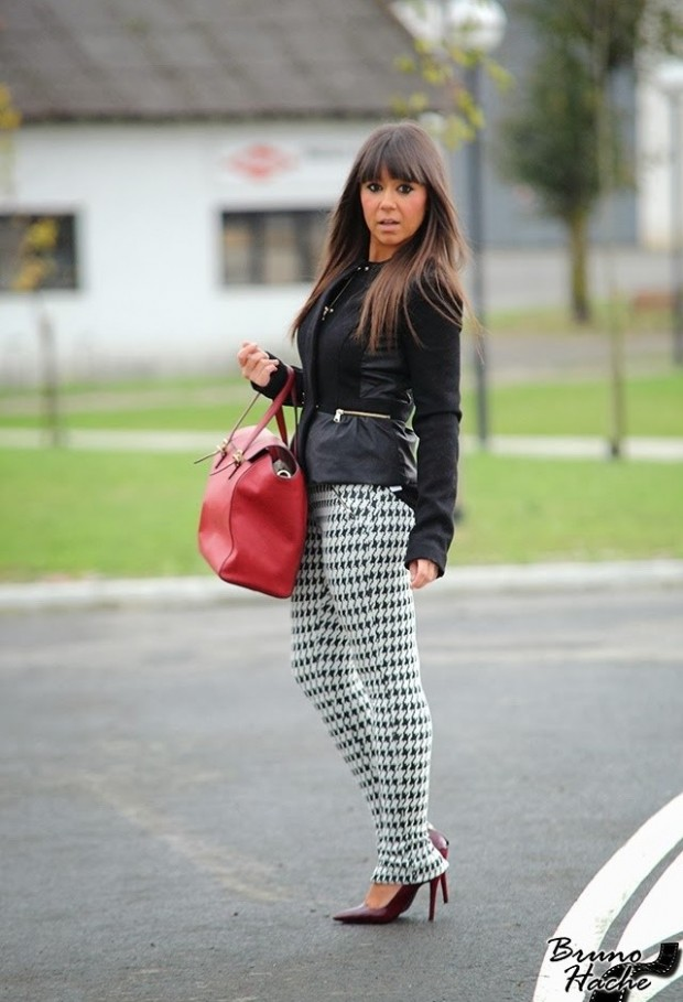 Houndstooth Print 17 Stylish Outfit Ideas (6)