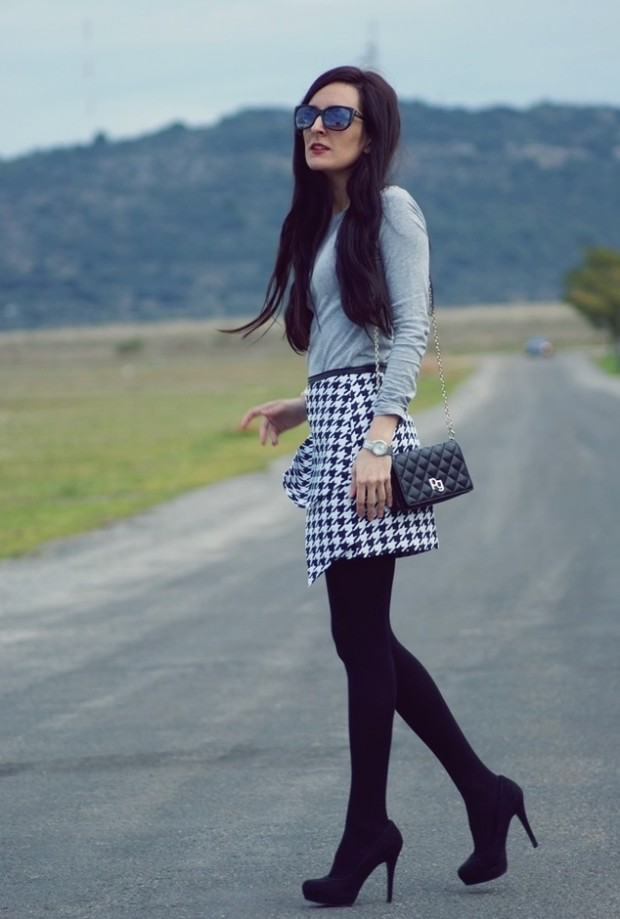Houndstooth Print 17 Stylish Outfit Ideas (8)