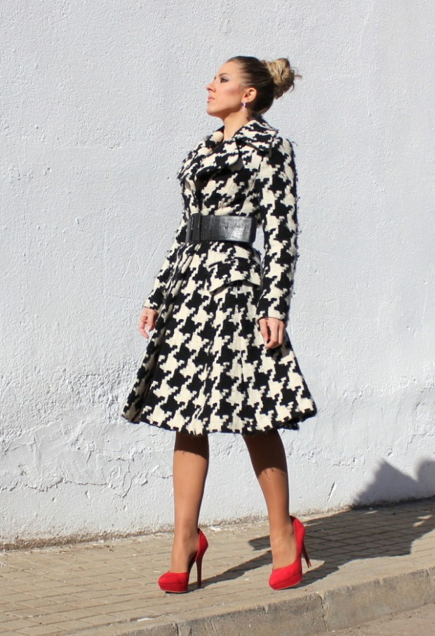 Houndstooth Print 17 Stylish Outfit Ideas (9)