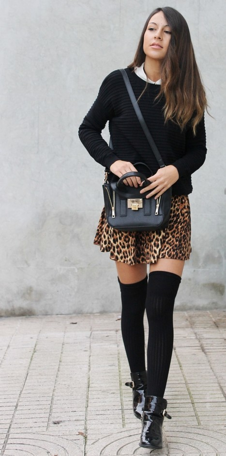 How to Wear Knee High Socks 19 Stylish Outfit Ideas (12)