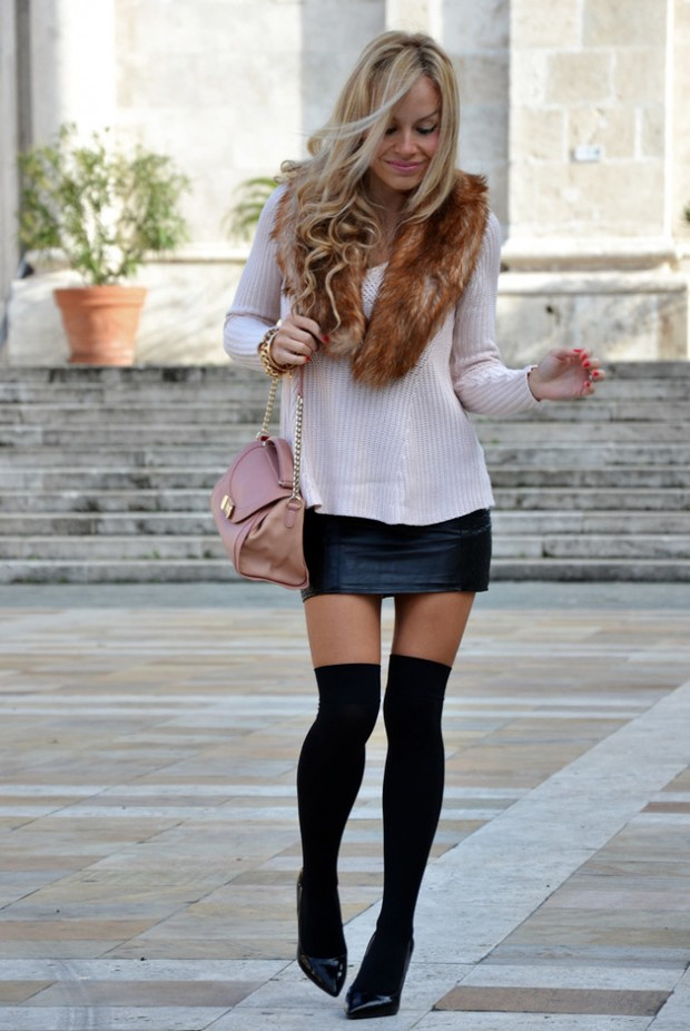 How to Wear Knee High Socks 19 Stylish Outfit Ideas (16)