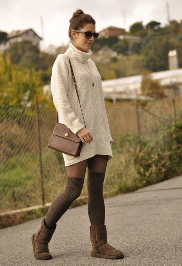 How to Wear Knee High Socks 19 Stylish Outfit Ideas (2)