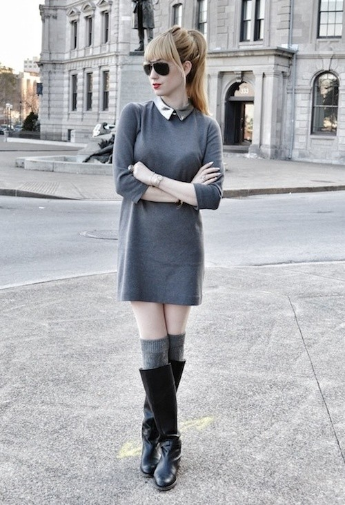 How to Wear Knee High Socks 19 Stylish Outfit Ideas (3)