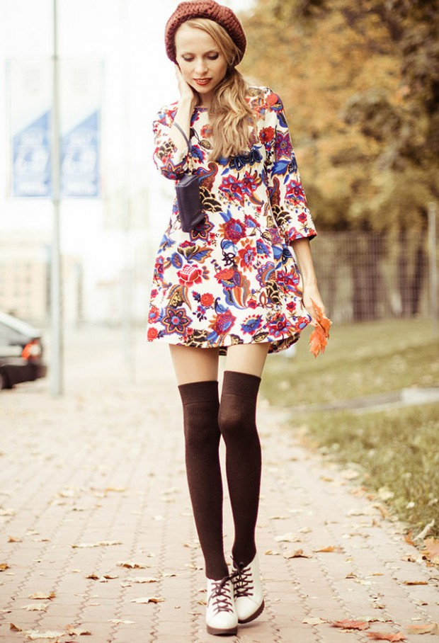 How to Wear Knee High Socks 19 Stylish Outfit Ideas (4)