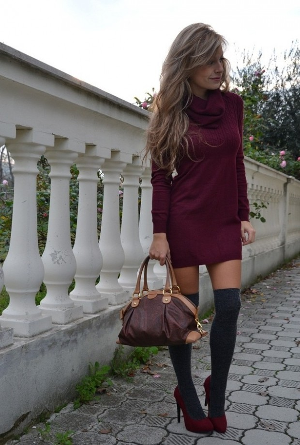 How to Wear Knee High Socks 19 Stylish Outfit Ideas (5)