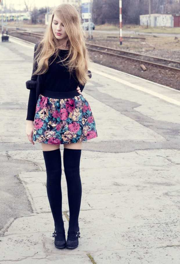 How to Wear Knee High Socks 19 Stylish Outfit Ideas (9)