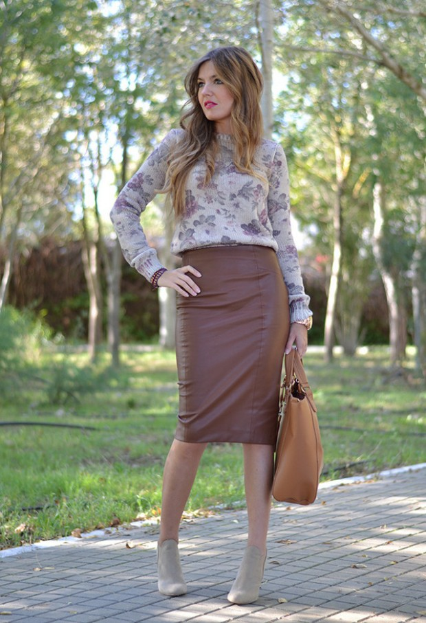 How to Wear Pencil Skirt Tips and Outfit Ideas (11)
