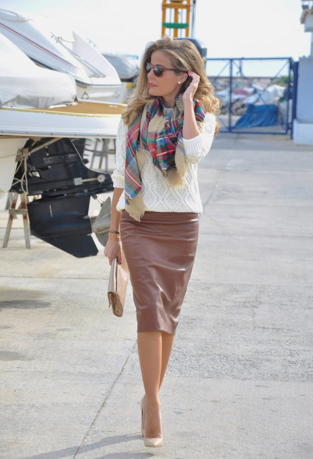 How to Wear Pencil Skirt Tips and Outfit Ideas (12)