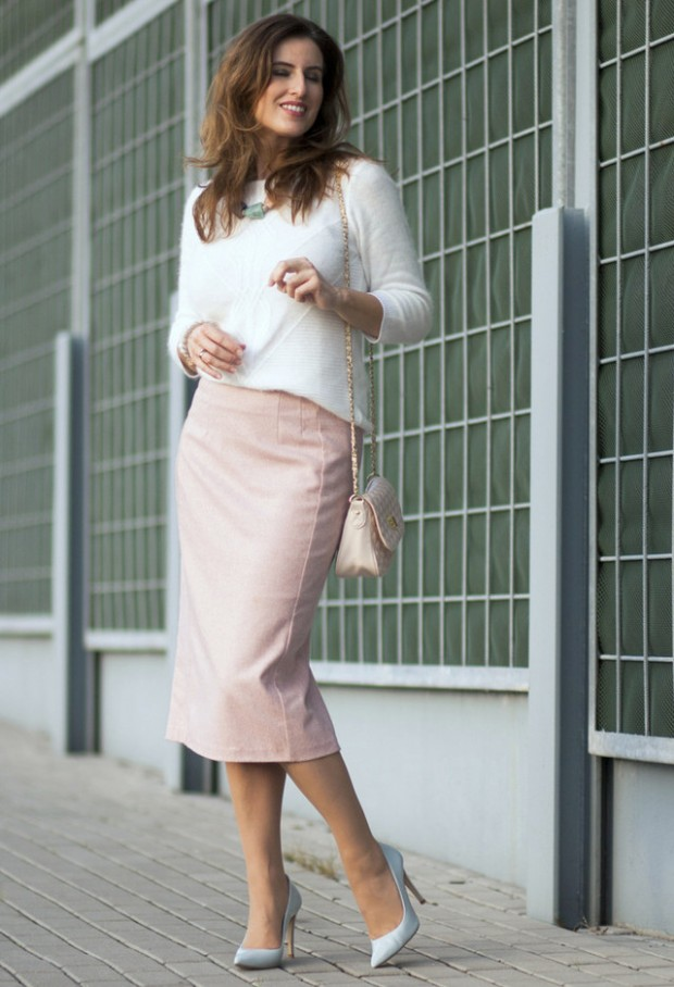 How to Wear Pencil Skirt Tips and Outfit Ideas (13)