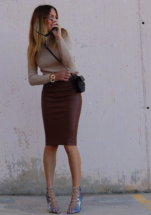 How to Wear Pencil Skirt Tips and Outfit Ideas (19)