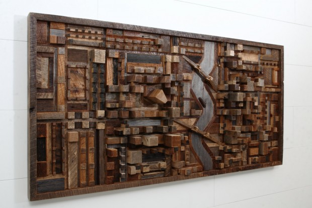 Outstanding Reclaimed Wood Wall Art (1)