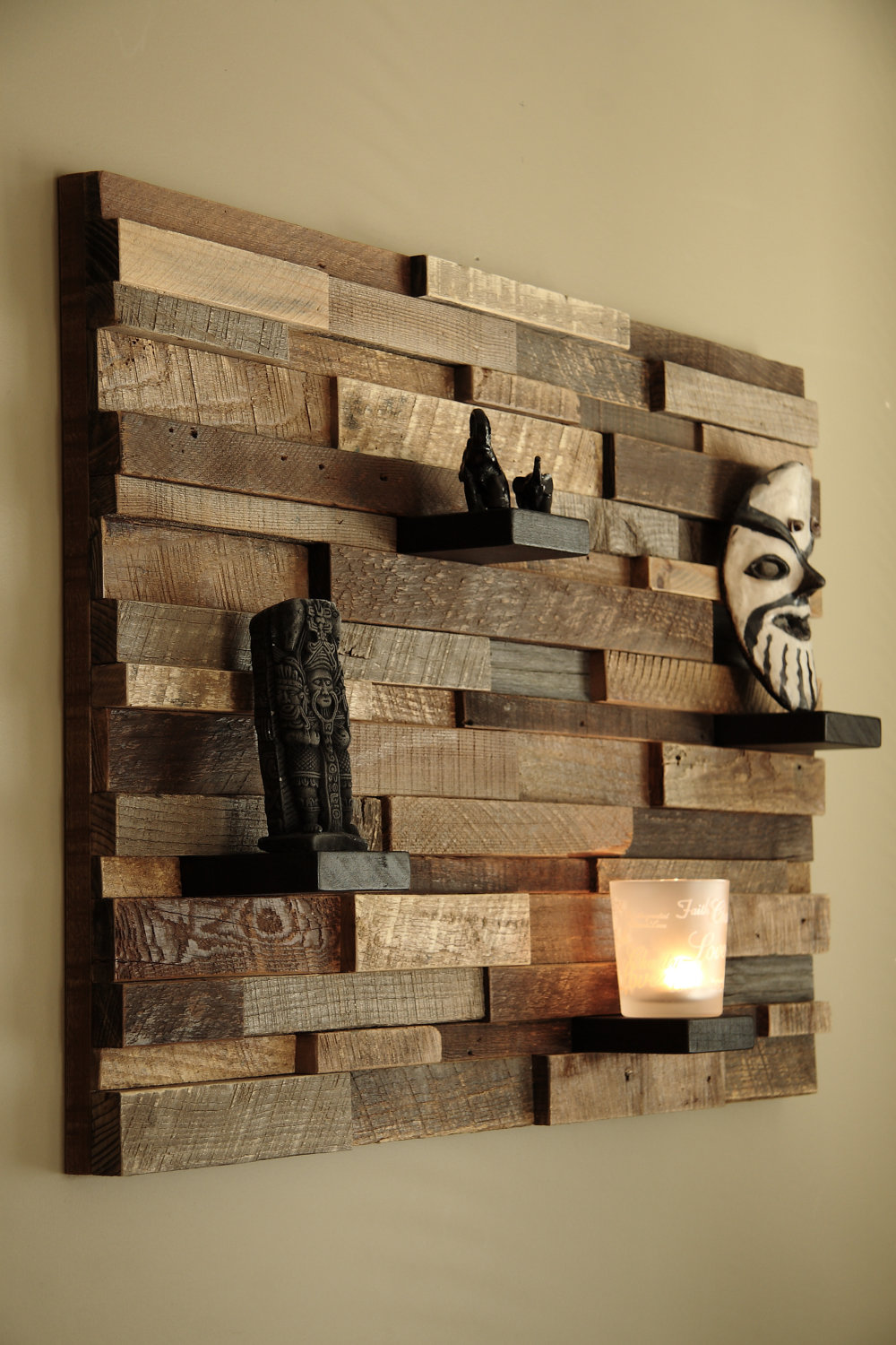 outstanding reclaimed wood wall art style motivation. Black Bedroom Furniture Sets. Home Design Ideas
