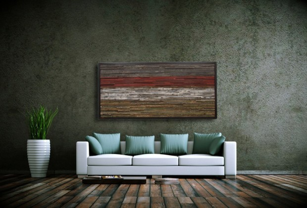 Outstanding Reclaimed Wood Wall Art (12)