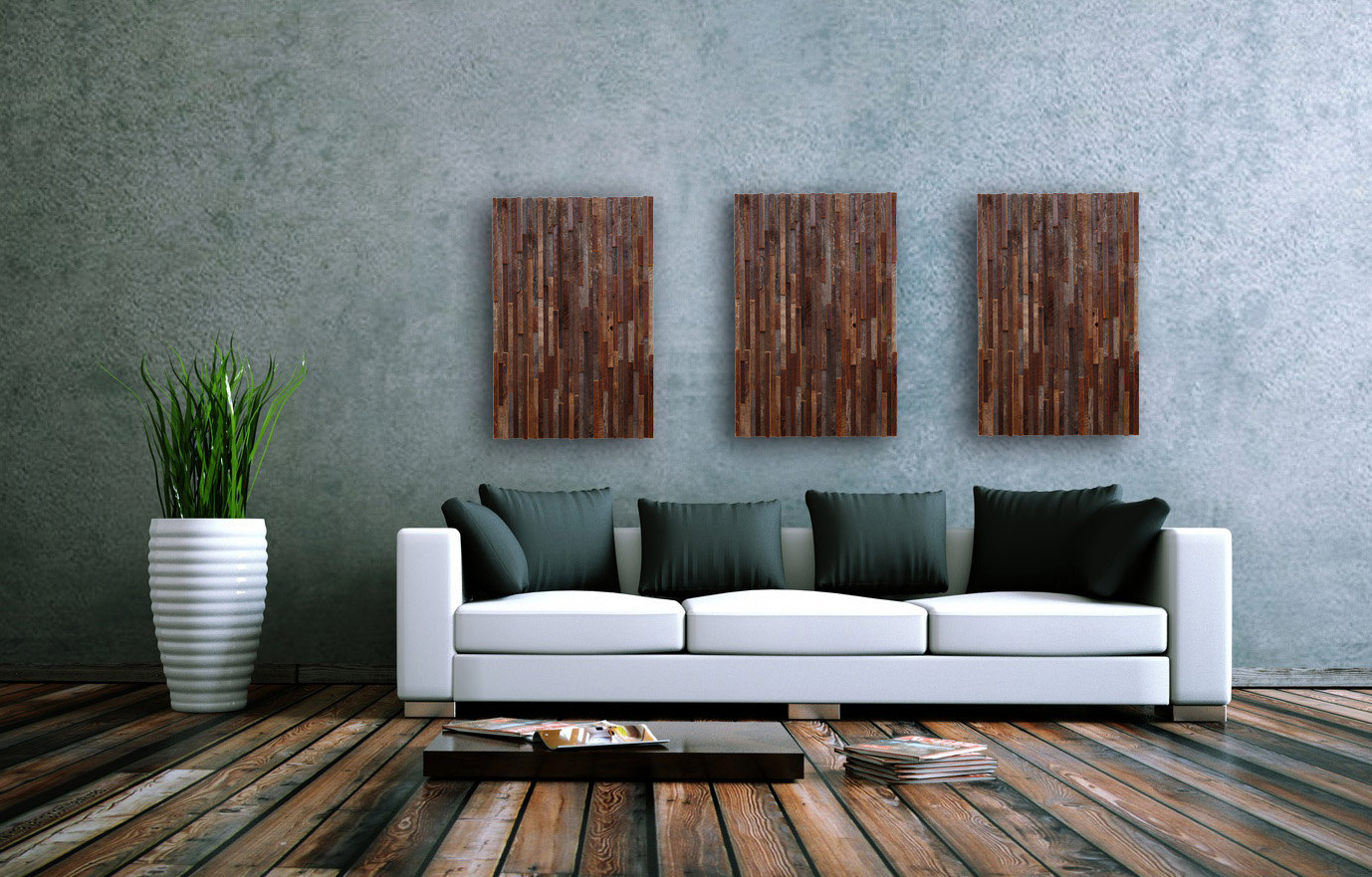 Reclaimed wood wall living room - Outstanding Reclaimed Wood Wall Art