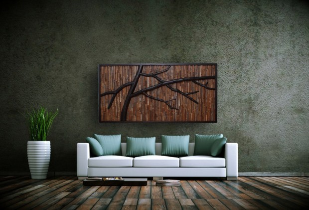 Outstanding Reclaimed Wood Wall Art (2)