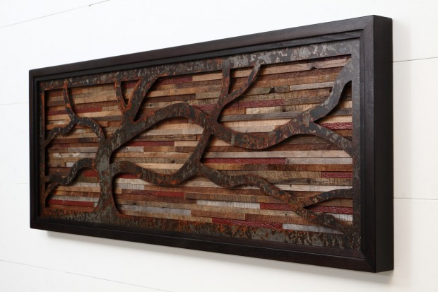 Outstanding Reclaimed Wood Wall Art (4)