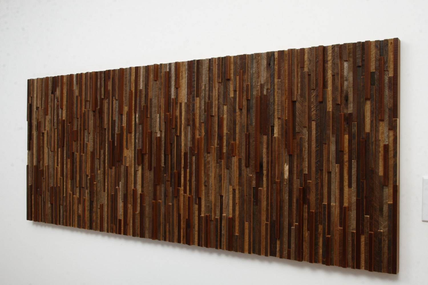 Outstanding reclaimed wood wall art style motivation for Reclamed wood