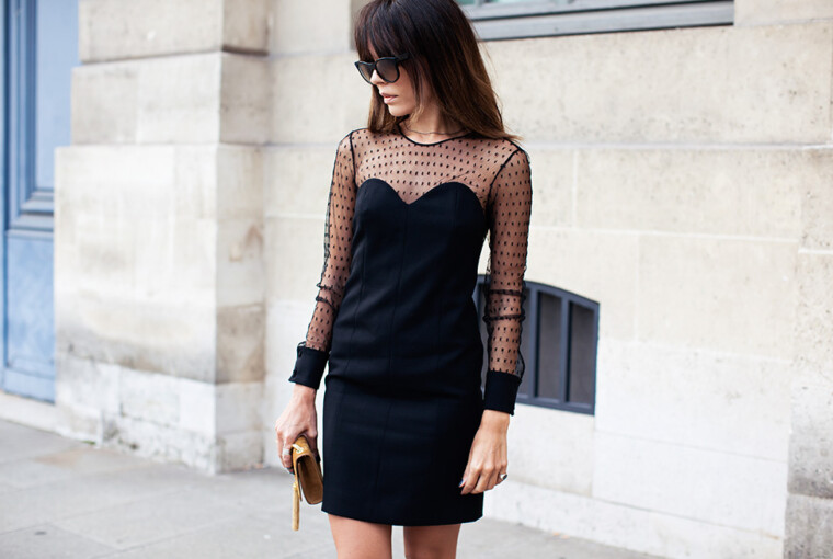 22 Of The Most Amazing Short Black Dresses For Dramatic Look - woman dresses, short black dress, Dress, Dramatic Look, black outfit, Black dress, black combinations