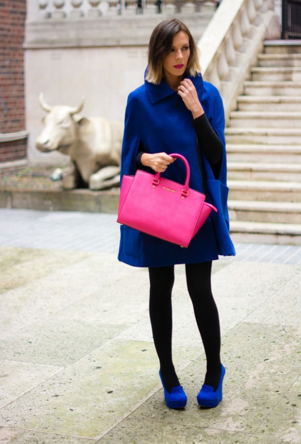 17 Amazing Outfit Ideas with Capes and Ponchos  (16)