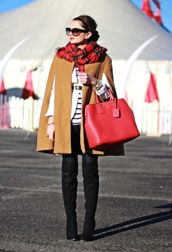 17 Amazing Outfit Ideas with Capes and Ponchos  (2)