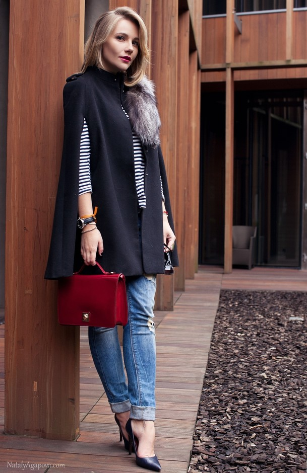 17 Amazing Outfit Ideas with Capes and Ponchos  (5)