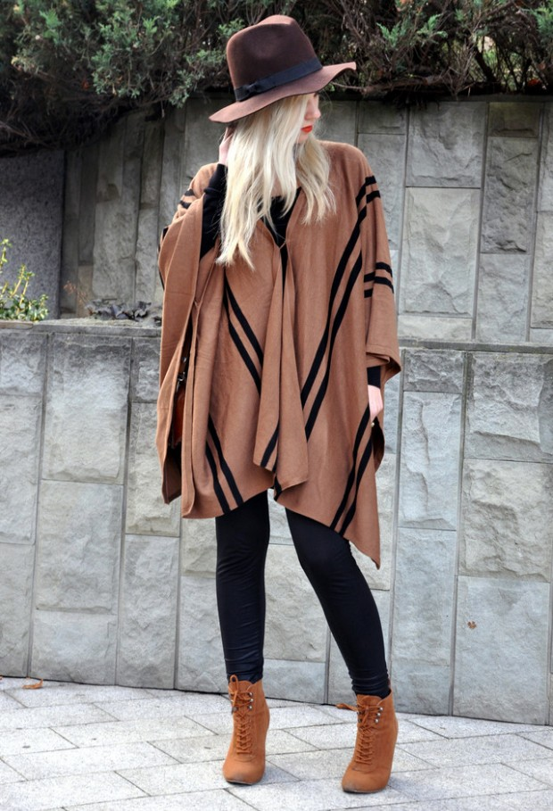 17 Amazing Outfit Ideas with Capes and Ponchos  (8)