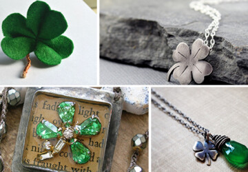 17 Lovely Handmade Jewelry Pieces for St. Patrick's Day - st. patrick's, silver, shamrock, saint, rustic, ring, retro, patrick, necklace, lucky, leaf, jewelry, irish, holiday, handmade, green, gold, Earrings, crystal, clover, celtic, bracelet