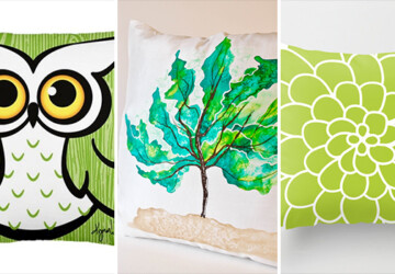 19 Springtime DIY Pillow Decoration Designs - throw, spring, pillowcase, Pillow, nature, modern, interior, home, handmade, green, diy, decorative, decoration, decor, cushion, cover