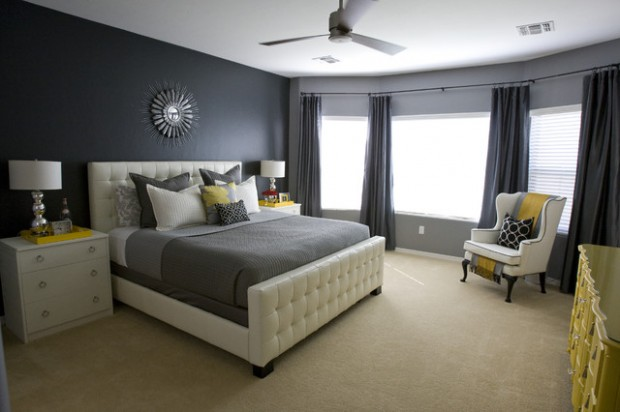 20 Beautiful Gray Master Bedroom Design Ideas