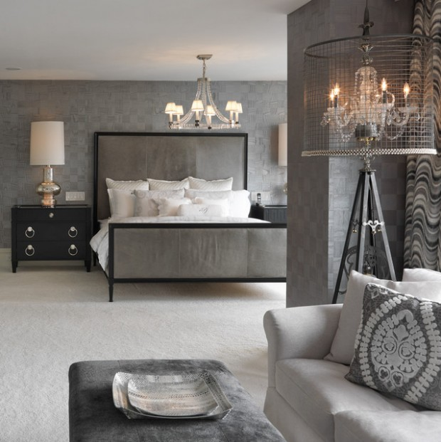 20 beautiful gray master bedroom design ideas style for Grey and white bedroom designs