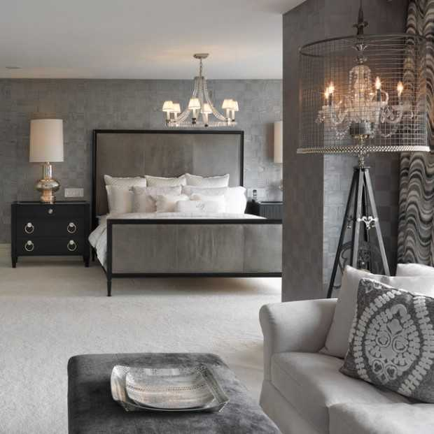 25 Stunning Transitional Bedroom Design Ideas: 20 Beautiful Gray Master Bedroom Design Ideas