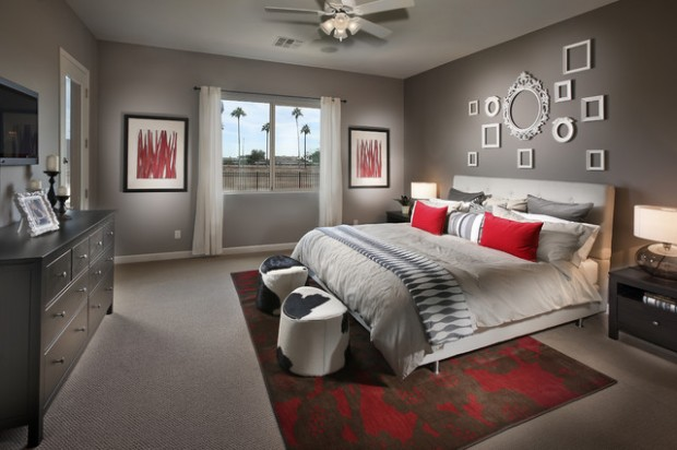 20 beautiful gray master bedroom design ideas style for Beautiful bedroom decor ideas