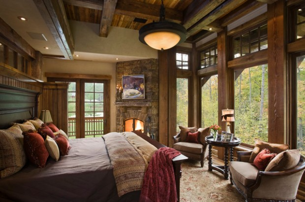 17 cozy rustic bedroom design ideas style motivation for Chambre red wine