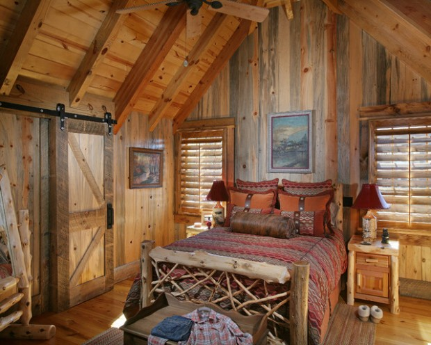 17 cozy rustic bedroom design ideas style motivation - Log cabin interior design ideas ...