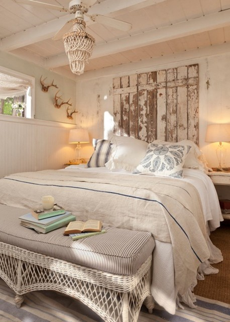 17 cozy rustic bedroom design ideas style motivation for Chambre style shabby chic