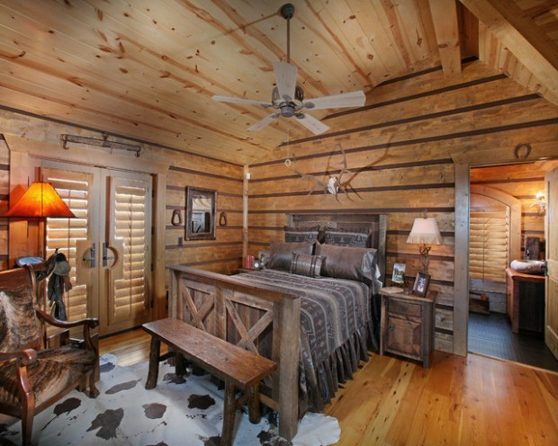 Rustic Bedroom Design Ideas With Wood Wall Decor Pictures To Pin On