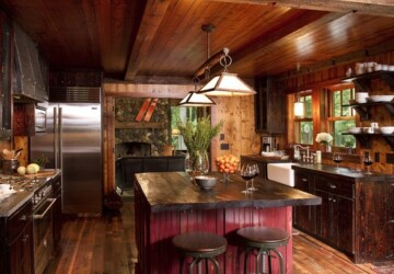 20 Cozy Rustic Kitchen Design Ideas - rustic kitchen, rustic, kitchen design, kitchen, cozy rustic