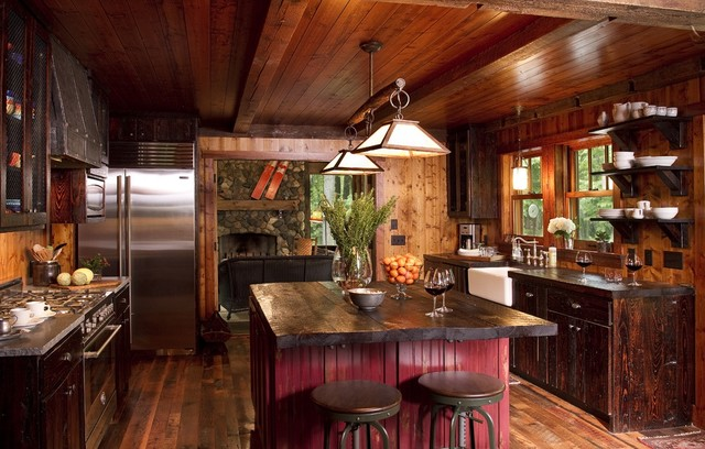 20 cozy rustic kitchen design ideas style motivation - Rustic Style Kitchen Designs