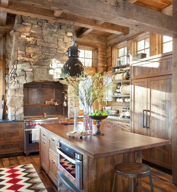 20 cozy rustic kitchen design ideas style motivation for Rustic chic kitchen ideas