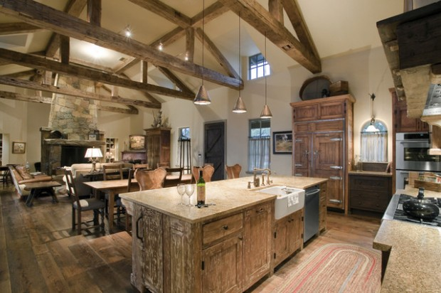 20 Cozy Rustic Kitchen Design Ideas on Rustic:fkvt0Ptafus= Farmhouse Kitchen Ideas  id=48403