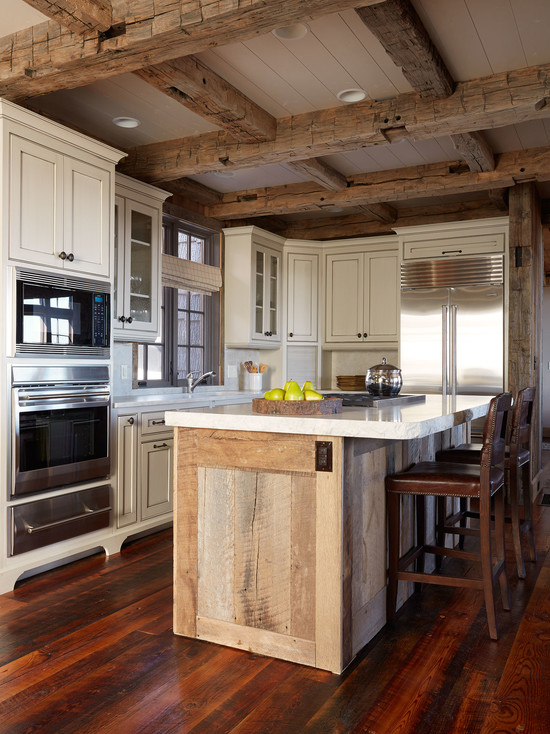 20 cozy rustic kitchen design ideas style motivation for Rustic kitchen island ideas
