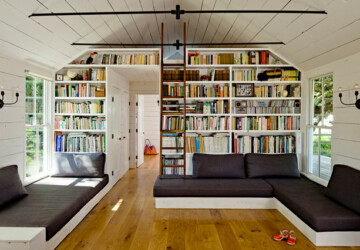 20 Elegant Reading Room Design Ideas for All Book Lovers - reading room design ideas, reading room, perfect reading space, library, Home library, cool idea for reading nook, books